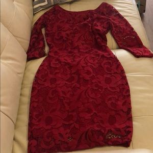 Lulus lace red dress size small